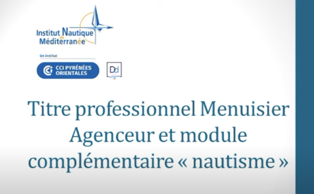 Titre Pro Menuisier agenceur avec module complémentaire « nautisme »