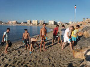 ramassage sur les plages