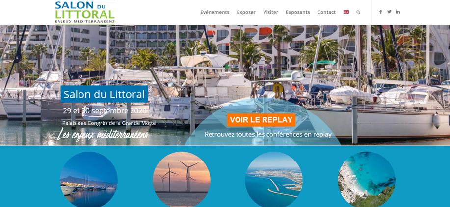 Site web du salon du littoral où l'on peut revoir les tables rondes