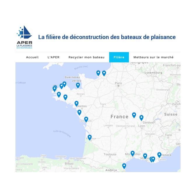 carte des sites de déconstruction APER